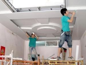 Thi công trần vách thạch cao trong quá trình hoàn thiện