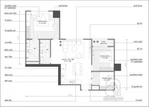 Mặt bằng tư vấn cải tạo chung cư thêm một phòng ngủ