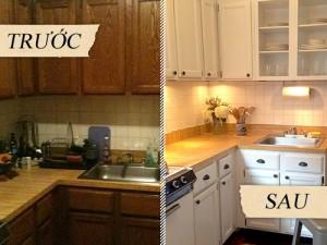 Mẫu phòng bếp trước và sau khi sửa bếp