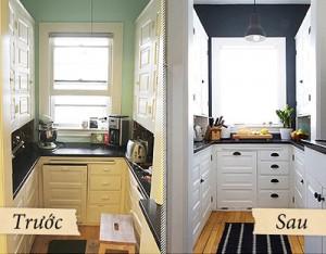 Phòng bếp sang trọng hiện đại sau khi sửa bếp