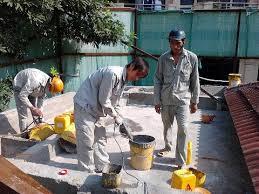 Quá trình thi công chống thấm trần nhà