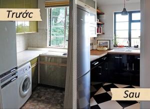So sánh trước và sau khi sửa bếp