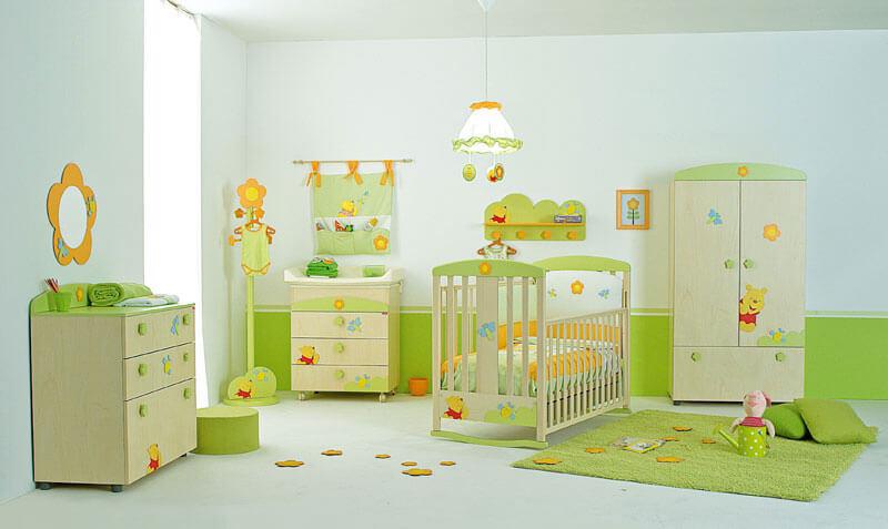 Bản thiết kế phòng ngủ em bé trẻ em vui nhộn ngộ nghĩ giường tủ được bố trí làm thành đồ chơi hợp lý