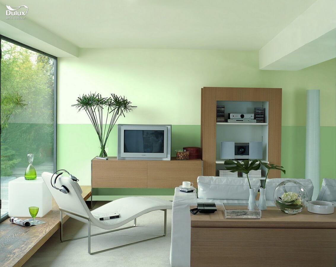 Dịch vụ sơn nhà chung cư với mầu xanh ấn tượng, thân thiện thiên nhiên