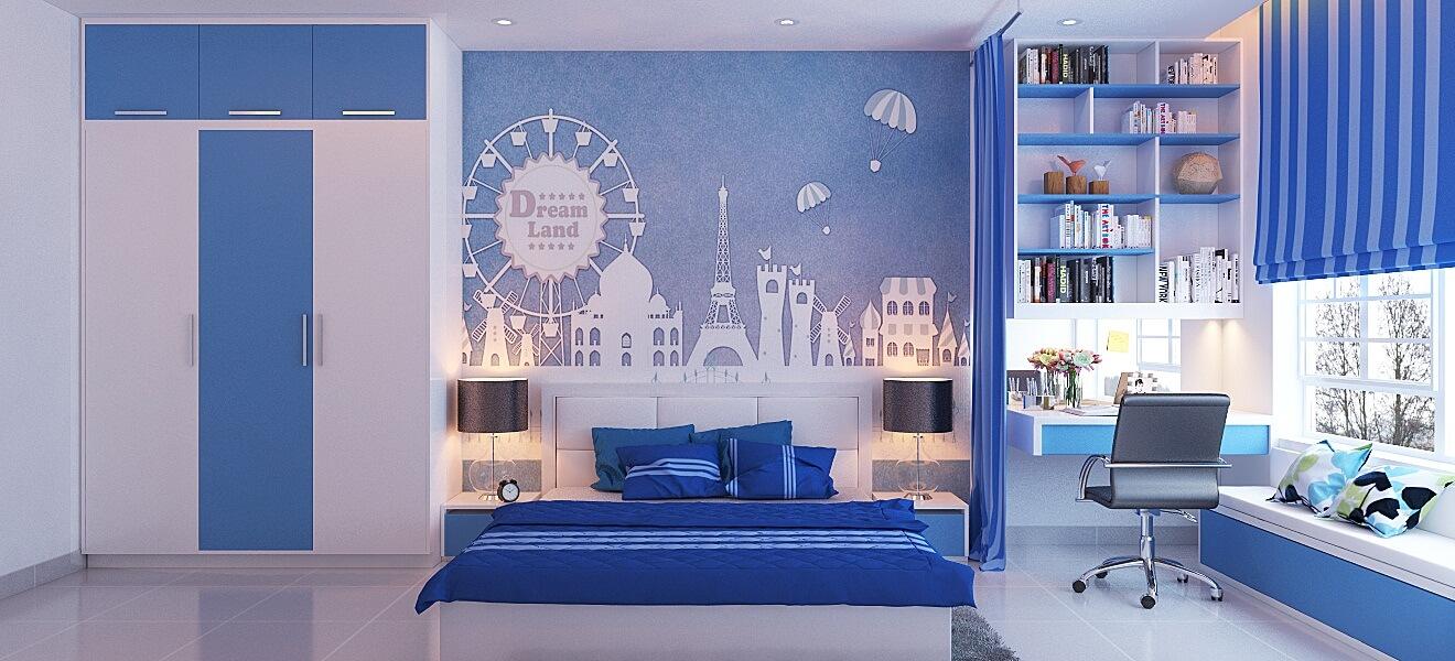 Giúp phòng ngủ thêm quyến rũ với tông mầu ngọc lam