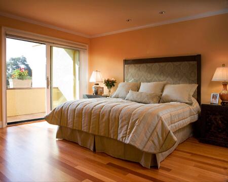Dịch vụ sơn nhà màu cam cho phòng ngủ