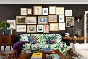 Phòng khách nhà bạn sẽ cuốn hút nếu bạn lựa chọn màu sơn nâu