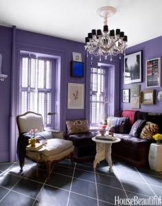 Lựa chon màu sơn tím sẽ rất phù hợp cho những ai thích lãng mạn