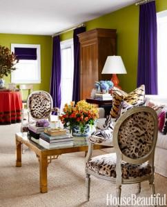 Mầu vàng cho phòng khách sẽ làm cho căn nhà trở nên tươi sáng