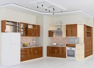 Sự kết hợp hoàn hảo giữa tone trắng và sắc màu gỗ là cách khá hiệu quả khi sửa phòng bếp nhà ống này.