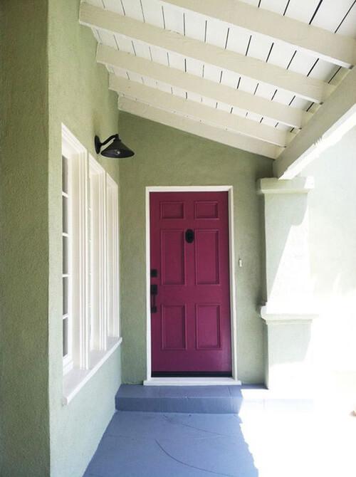 những màu sắc ấn tượng dành cho cửa chính