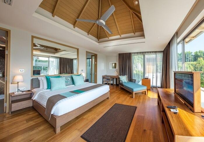 Một trong những phòng ngủ đẹp theo phong cách hiện đại gia chủ rất thích