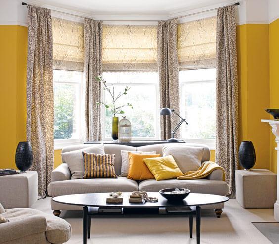 Sơn nhà ấm cúng nhẹ nhàng với mầu vàng