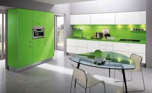 Xanh lá tạo căn bếp tươi mới thân thiện thiên nhiên