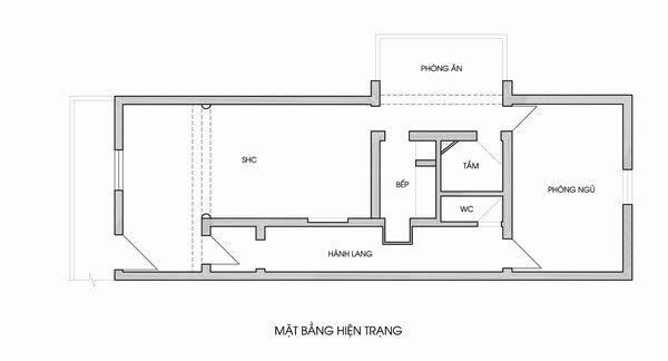 Mặt Bằng Hiện Trạng căn hộ tập thể cũ tại Hà Nội