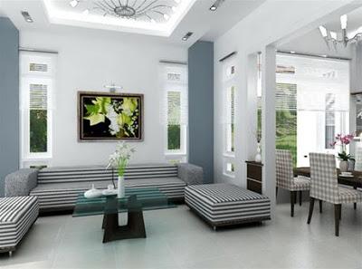 Màu trắng là một trong những màu sơn nhà đẹp. Thể hiện sự tinh khiết, cao quý, trang nhã.