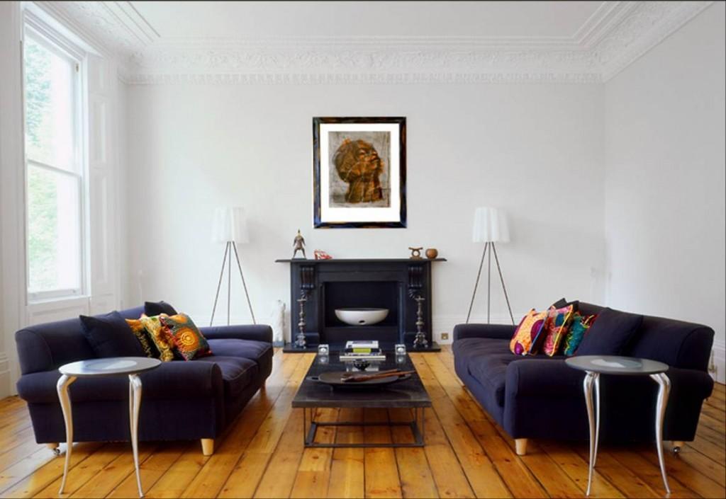 Màu trắng ngà giúp không gian phòng khách trở nên lãng mạn, màu đầm ấm trong những mẫu sơn phòng khách đẹp