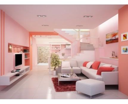 Mệnh thổ nên sơn nhà theo phong thủy, màu hồng đỏ tím, sự mạnh mẽ trong Hồng hỏa sẽ tạo cho bạn cảm giác vững chắc an tâm.