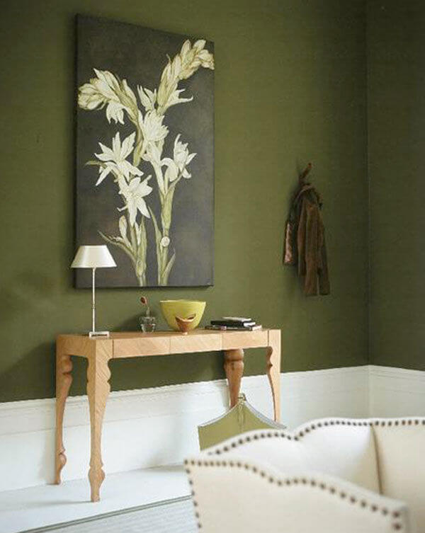 Màu sơn nhà đẹp mang đến sự thư giãn cho phòng khách, nhà bếp hay phòng tắm với gam màu xanh-trắng-kết hợp màu cam ấm áp.