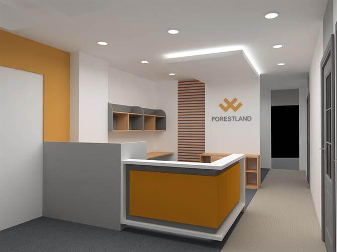 Không gian văn phòng với tông trắng, thiết kế tối giản, hiện đại. Tạo cảm giác thoáng sáng sau sơn văn phòng đẹp, chất lượng cao.