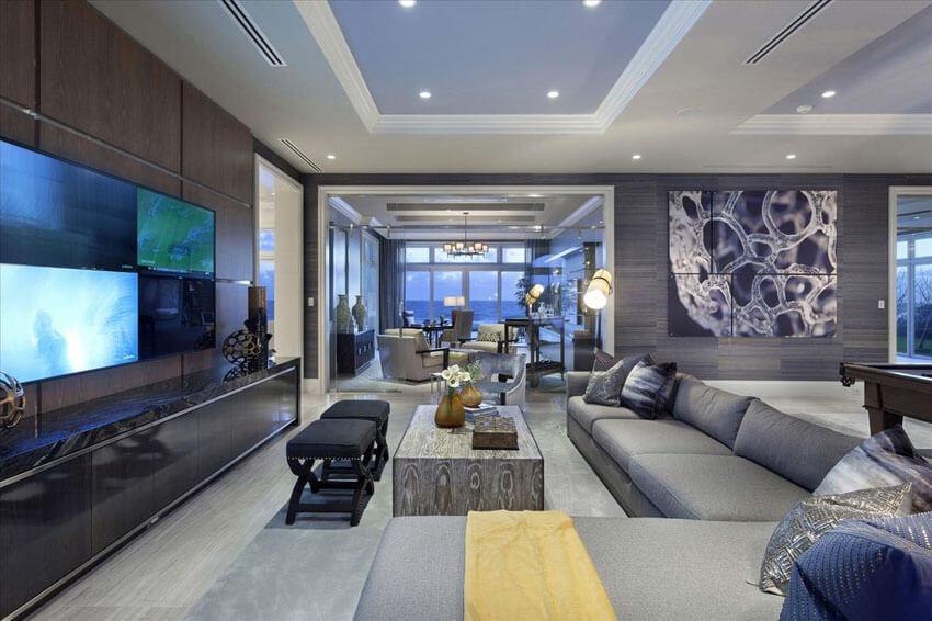 Những màu sơn phòng khách đẹp với màu xám nhã nhặn sang trọng