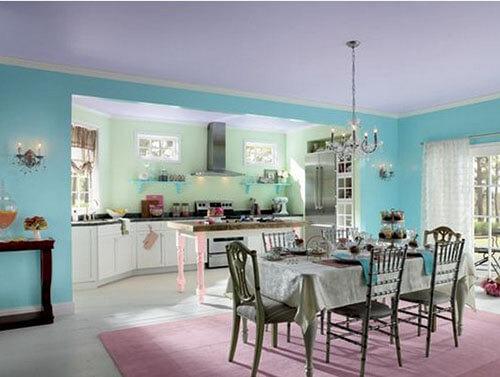 Những màu sơn nhà tương đồng giúp căn phòng trở nên hài hòa