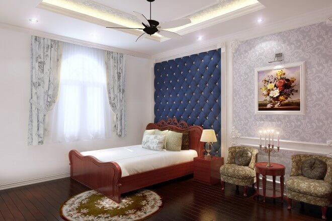 Thiết kế nhà ống với mảng nhấn màu xanh, phòng ngủ con trai mang phong cách cá tính đồng thời cũng trẻ trung hơn