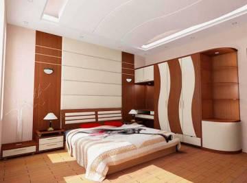 Phòng ngủ với gam màu trắng, nâu gỗ, sang trọng và ngăn nắp, sạch sẽ, tinh tế và tao nhã hơn sau khi cải tạo nhà sửa chữa phòng ngủ đẹp này.