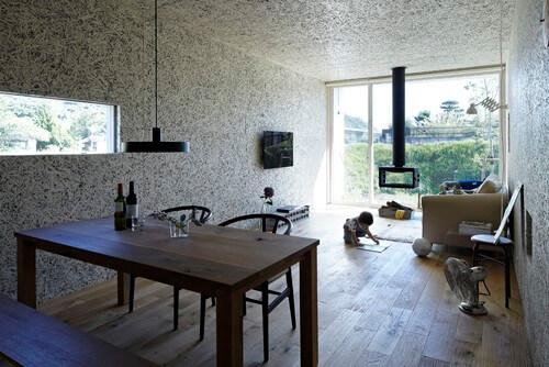 Phong cách thiết kế không gian tối giản nhưng vẫn rất ấn tượng trong mẫu thiết kế nội thất nhà này.