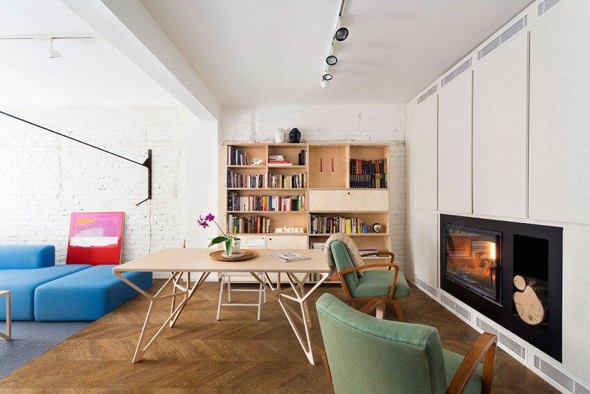 Một không gian sống màu sắc sơn trắng, thân thiện và đầy yếu tố cảm hứng sau cải tạo nhà này.