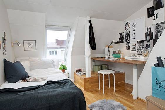 Mẹo sơn phòng ngủ trần thấp, có thể chọn gam màu trung tính để cho trần nhà và kết hợp với việc sơn nhà bằng những bức tường màu sáng hoặc màu kim loại
