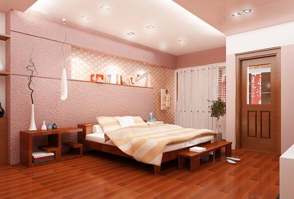 Màu hồng sang trọng dành cho Bố Mẹ trong mẫu thiết kế nhà phố 3 tầng này.