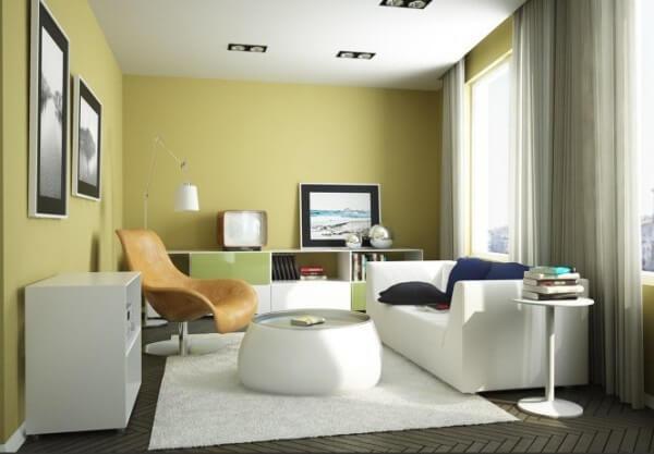 Vàng quả bơ tạo cảm giác sum vầy nhưng vẫn mát mẻ, ấn tượng với mẫu thiết kế nội thất nhà này.