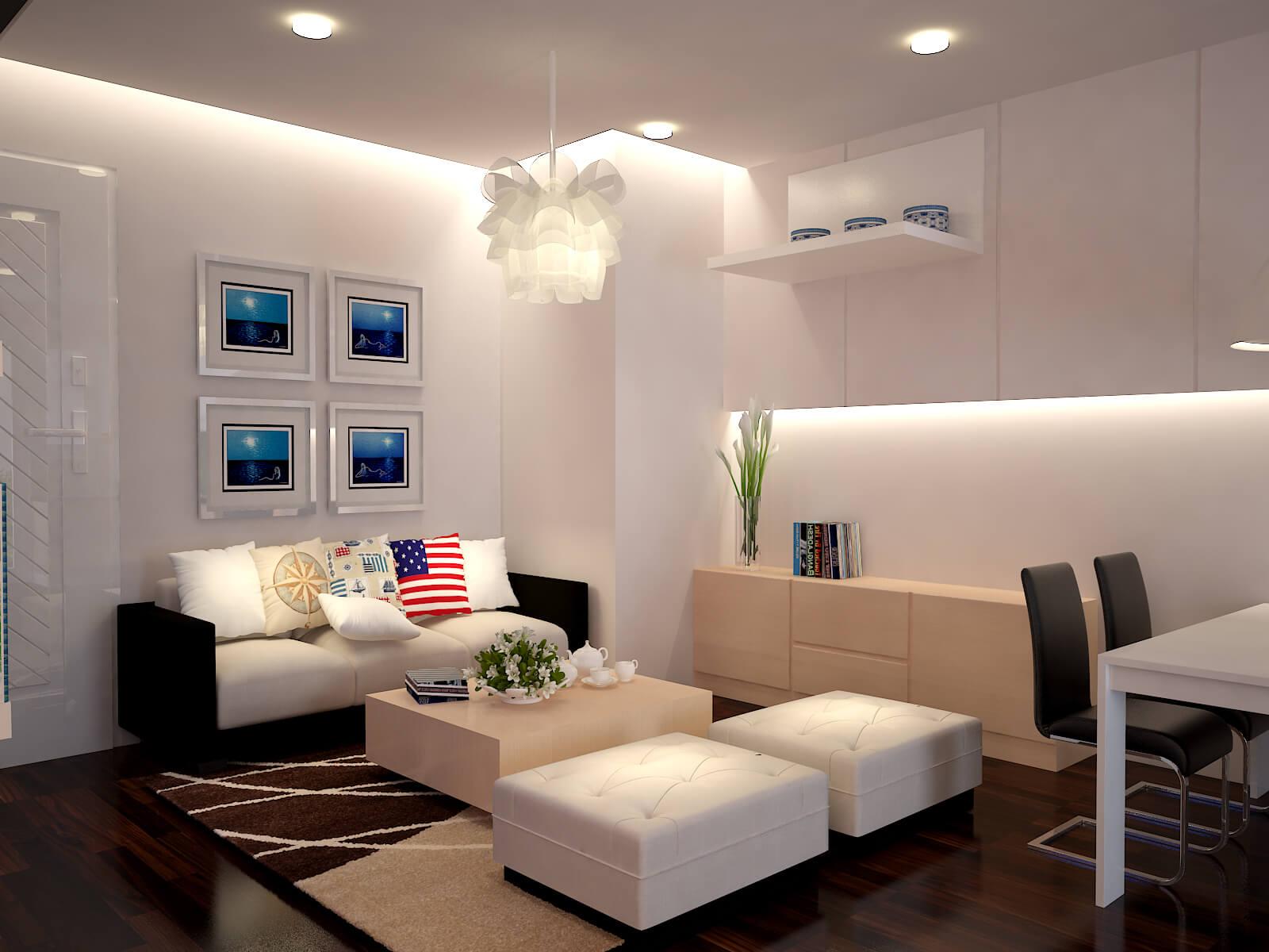 Mẹo cải tạo phòng khách nhà chung cư đẹp tại Hà Nội
