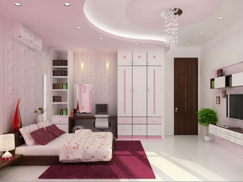 phòng ngủ của người lớn, đa số trần thạch cao có thiết kế nhẹ nhàng, đơn giản