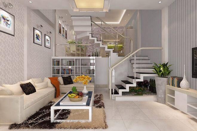 Phòng khách được thiết kế sang trọng hiện đại