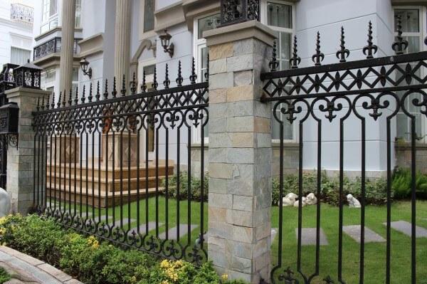 Sơn hàng rào sắt hiện đại