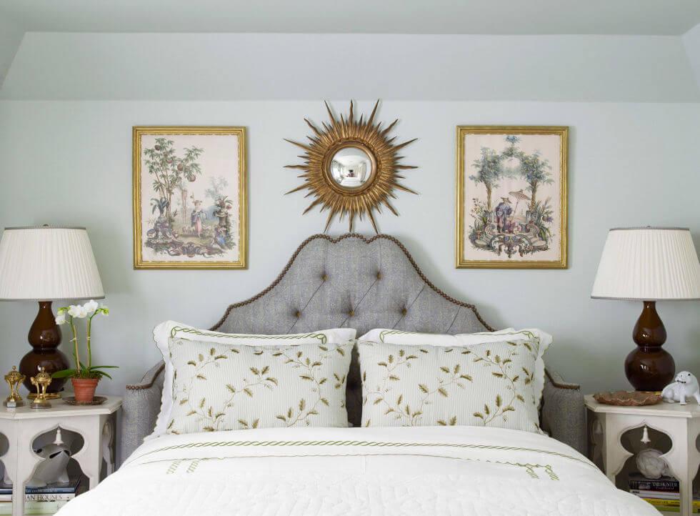 Sơn nhà với mầu sơn phù hợp với phòng ngủ - mầu xanh nhạt