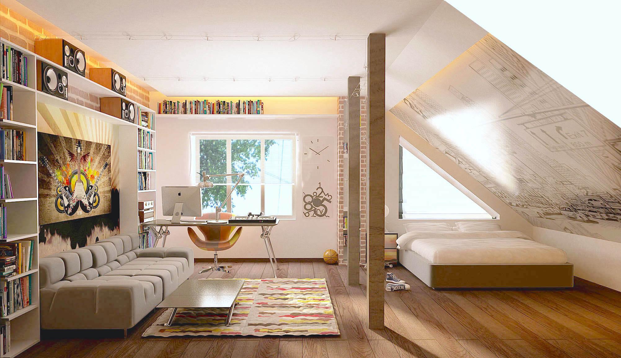 Sửa chữa nhà đẹp tăng diện tích nhờ tầng gác mái