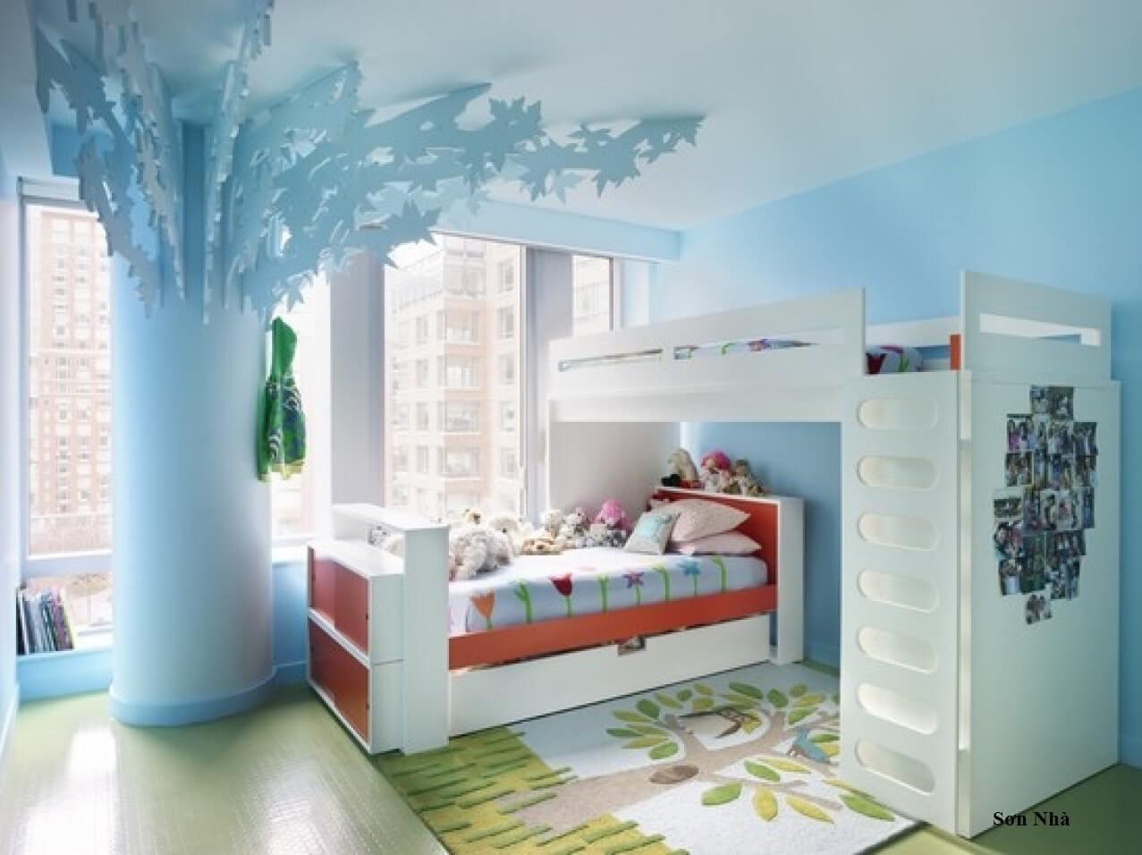 Dịch vụ sơn phòng ngủ đẹp chuyên nghiệp cho bé