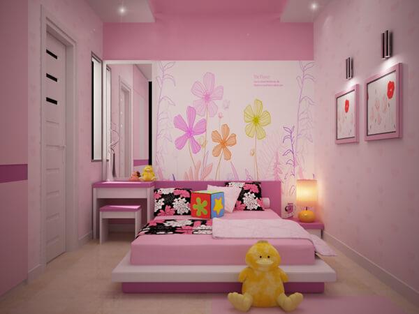 Sơn phòng ngủ đẹp chuyên nghiệp cho trẻ nhỏ