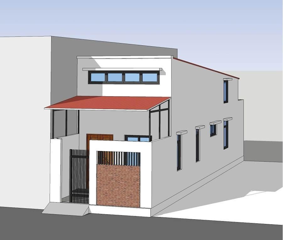 Sửa chữa cải tạo nhà cấp 4 tăng diện tích sử dụng với mái tôn chống nóng