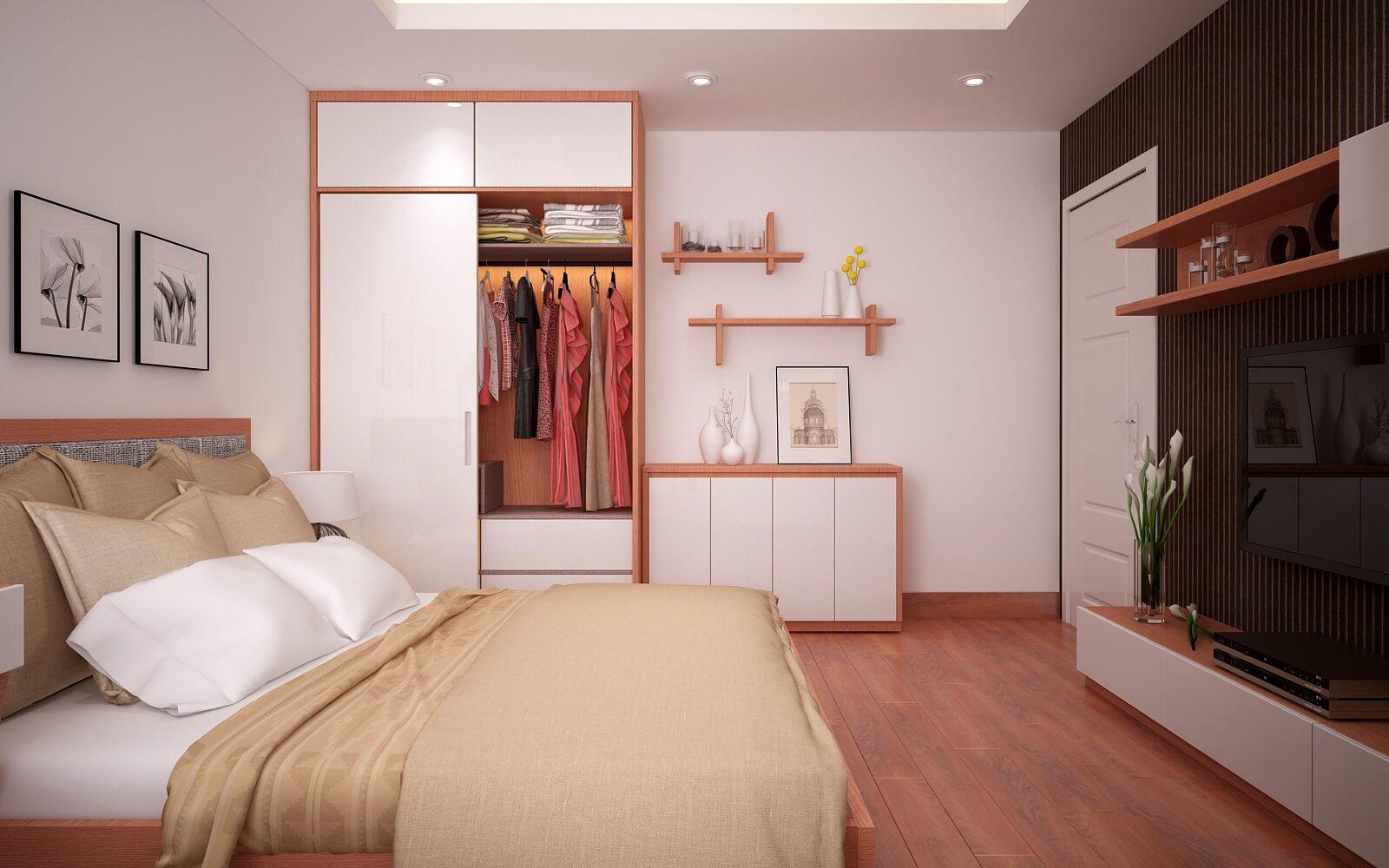 Thiết kế phòng ngủ trang nhã với nội thất tiện nghi