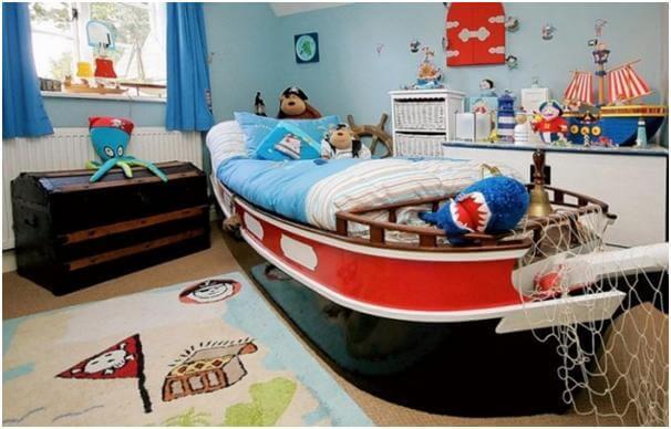 Sửa chữa phòng ngủ cho bé ưa phưu lưu như thích làm thủy thủ