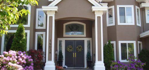 sơn mặt tiền nhà với màu cafe sửa,cam đất