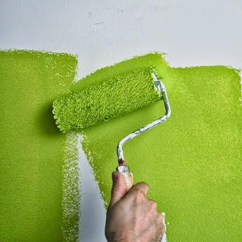 Thùng sơn tường nhà thật, sơn dỏm