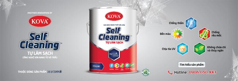 Loại sơn mới sơn bóng tự làm sạch và lau chùi hiệu quả chính hãng sơn kova Việt Nam.