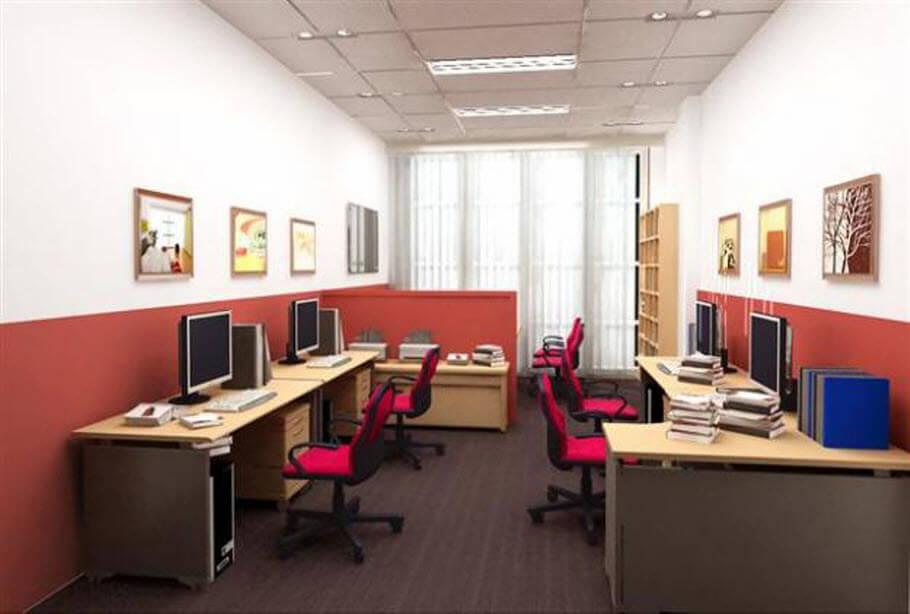 Sơn văn phòng làm việc đẹp và phong cách