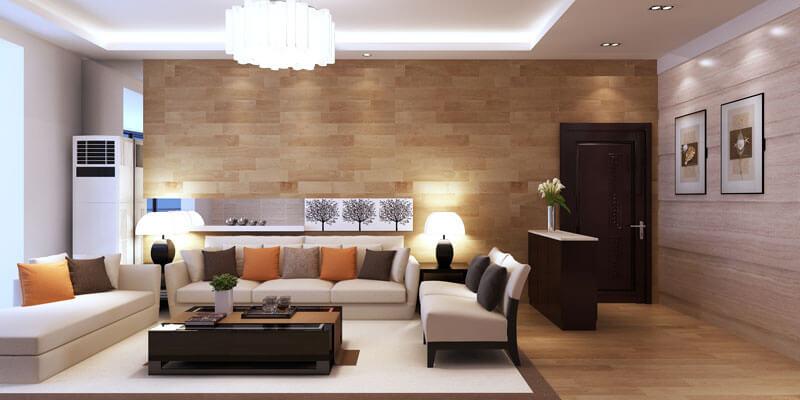 Bảng phối mầu sơn nhà là phòng khách đẹp với gam mầu sơn trung tính