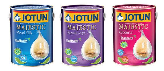 Các sản phẩm sơn Jotun Majestic gốc nước
